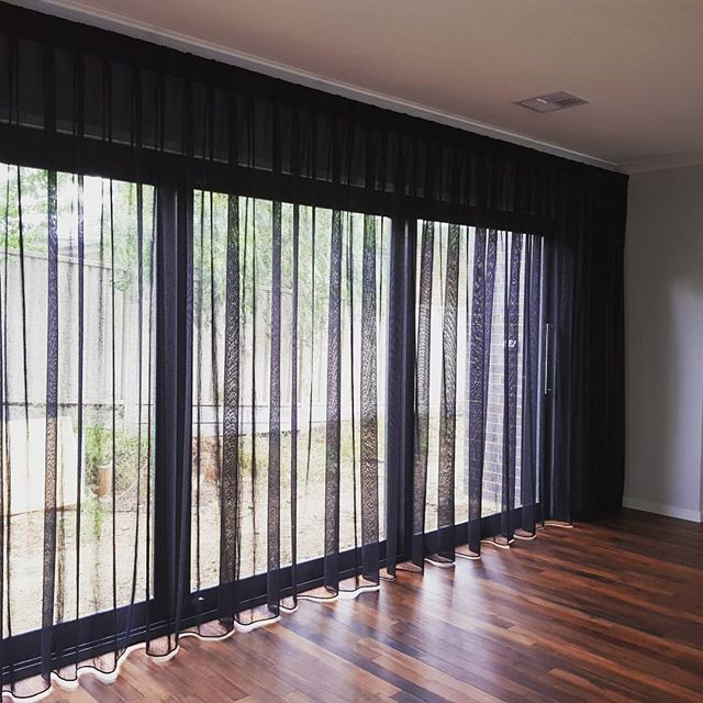 We love what a whole wall of sheers can do in a room, like this one from yesterday's installation.  It completely changed the feel within the living area and looks absolutely amazing!  #bendigo #elegantconcepts #centralvictoria #countryvictoria #curtains #drapes #sheers #sheer #blinds #shutters #fabric #black #amazing #livingspace #livingroom #slidingdoors #bedroom #privacy #softening #interiordecorating #interiors #styling #style #decorating #decor # #lovewhatwedo #supportlocal