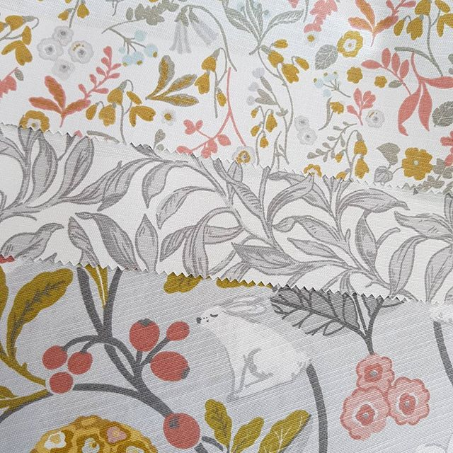New samples!! How sweet is this collection!? Absolutely in love with the colour combinations, and adorable patterns! Perfect for any room!  #bendigo #elegantconcepts #centralvictoria #countryvictoria #drapes #blinds #shutters #awnings #fabric #sweet #adorable #bunny #floral #pattern #livingroom #kidsroom #study #grey #white #mustard #love #classic #interiors #interiordecorating #decor #lovewhatwedo #supportlocal #new