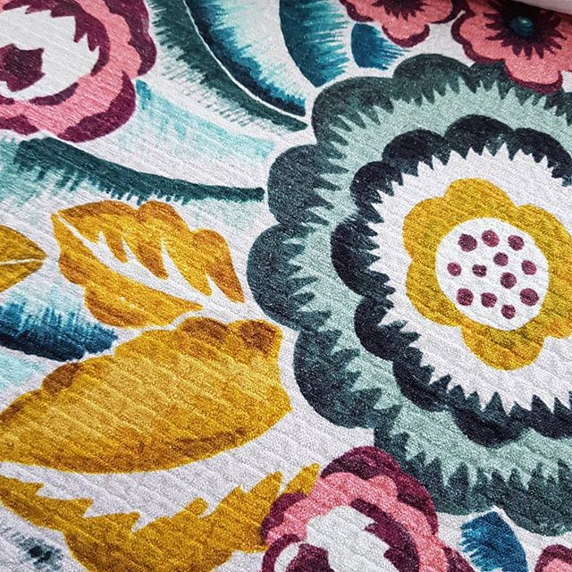 What a beautiful upholstery fabric from Warwick! We love the bright colours and pattern. Ideal for a statement chair in your lounge.  #bendigo #elegantconcepts #centralvictoria #countryvictoria #fabric #curtains #drapes #blinds #upholstery #velvet #beautiful #stunning #statement #lounge #chair #warwick #yellow #green #pink #interiordecorating #interiors #decor #design #home #homedecor #lovewhatwedo #supportlocal