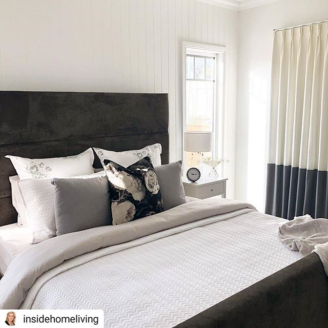 #Repost @insidehomeliving • • • • • Beautiful Master bedroom coming together 🙌🏻 #insidehomeliving #masterbedroom #bedroom #displayhome #gjgardner #bendigo #ezibuy  So nice to see our beautiful work in the @gjgardnerhomesbendigo display home, featuring our stunning contrast hem curtains.  #elegantconcepts #centralvictoria #fabric #curtains #drapes #hamptons #hamptonsstyle #home #homedecor #beautiful #love #lovewhatwedo #supportlocal