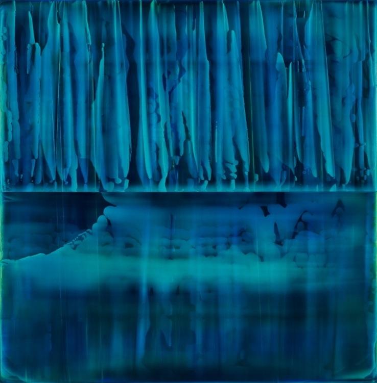 James Lumsden, Reflex (1), 2014. Acrylic on canvas, 108 x 106 cm