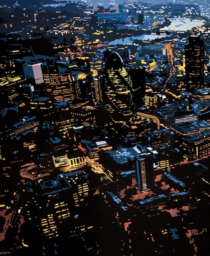 The Gherkin at Night I, London, 2014