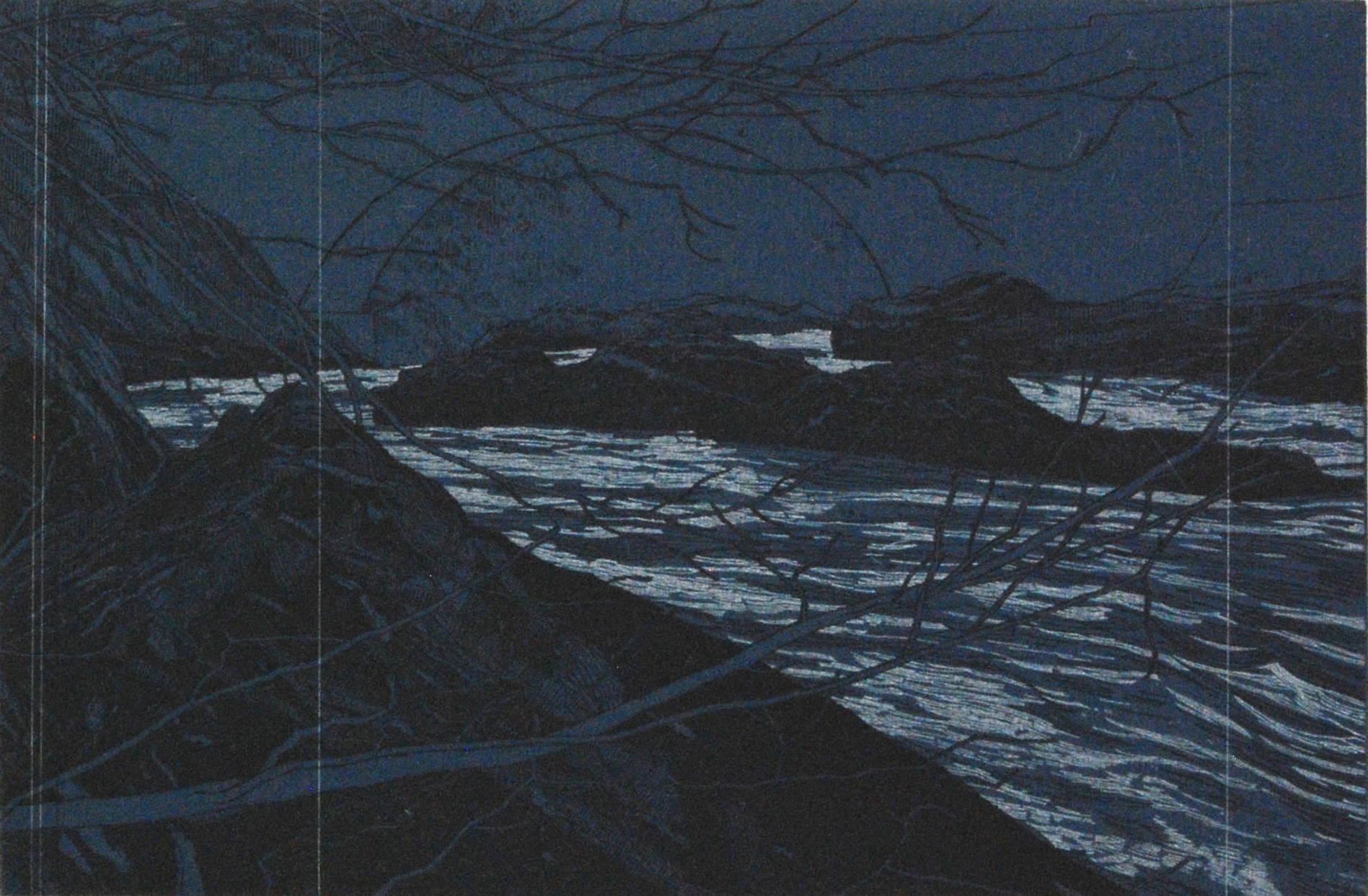 River (Blue), 2017