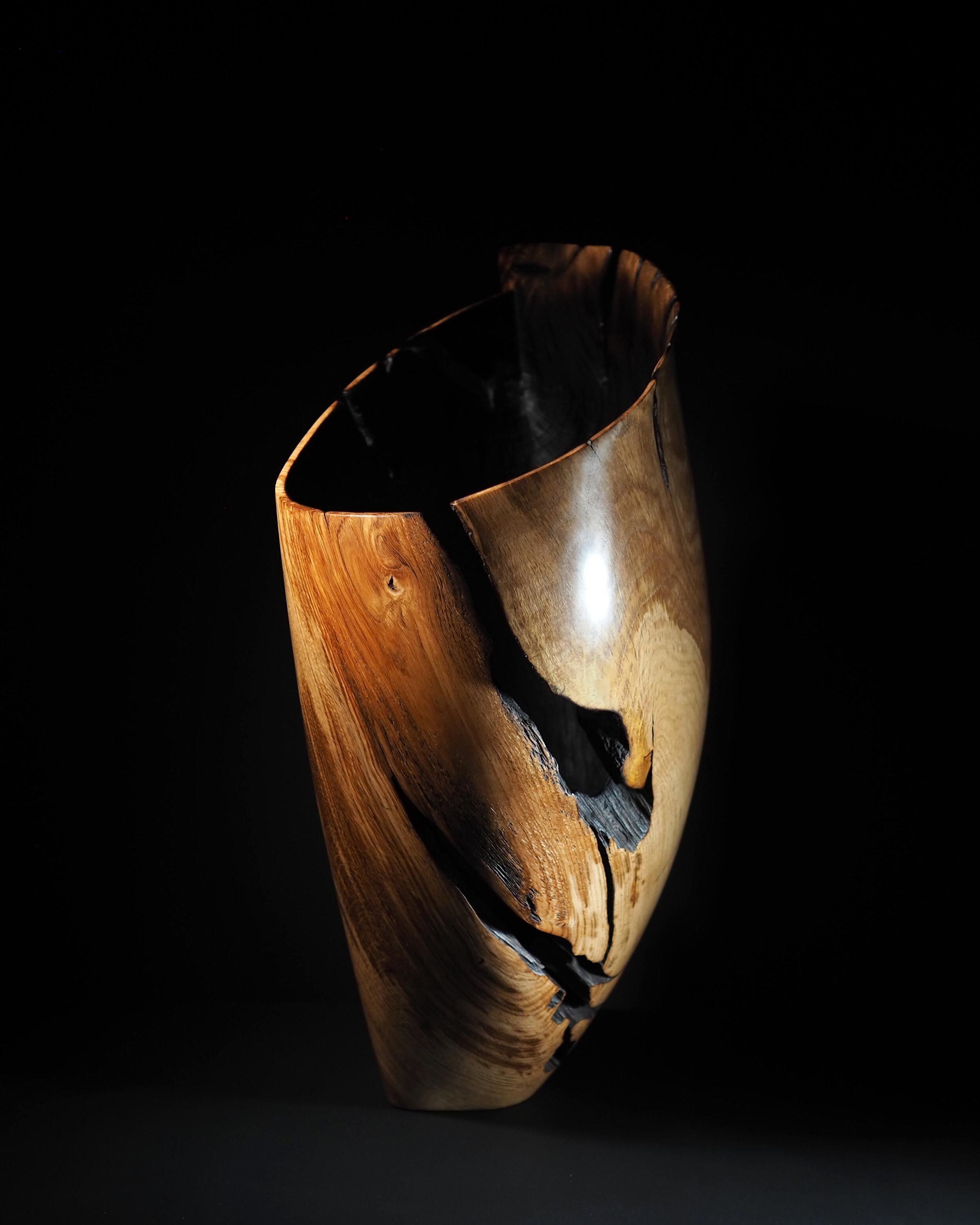 Flamed Oak Vessel