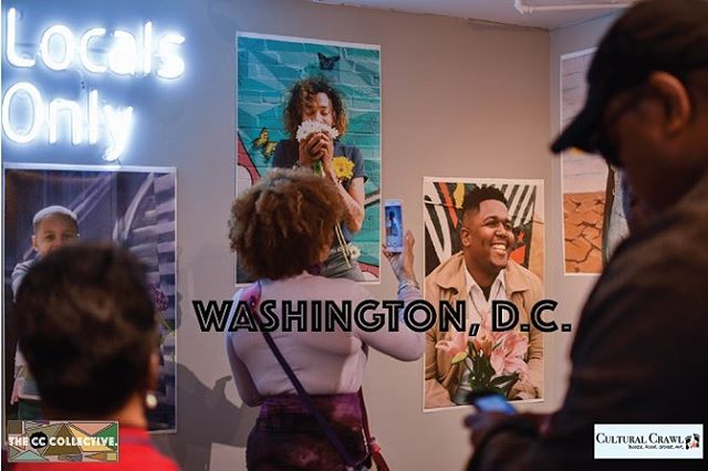 @culturalcrawl participants enjoying our Floral Infused #BlackBoyJoy Photo Exhibit in #washingtondc 🙌🏾 📸 @nine9tothe2000 @leesflowersdc @whiskeygingershop @creeseivhair