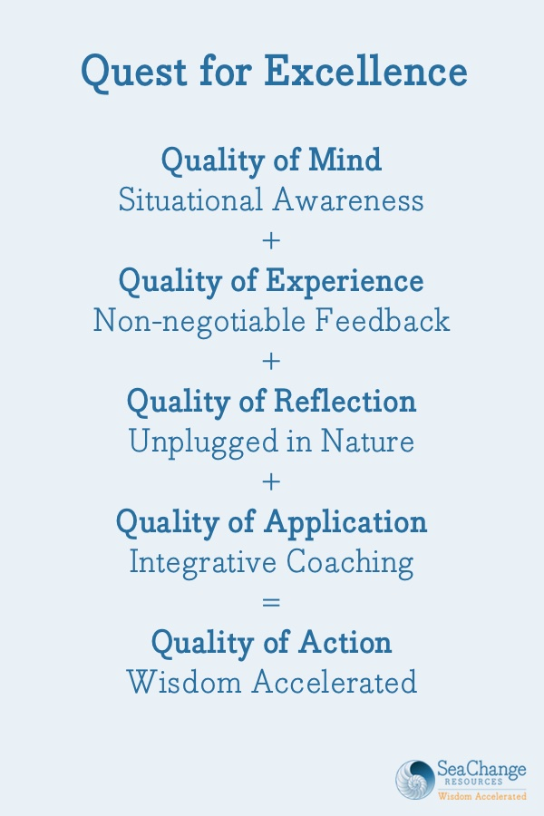 Quest for Excellence | SeaChange Resources