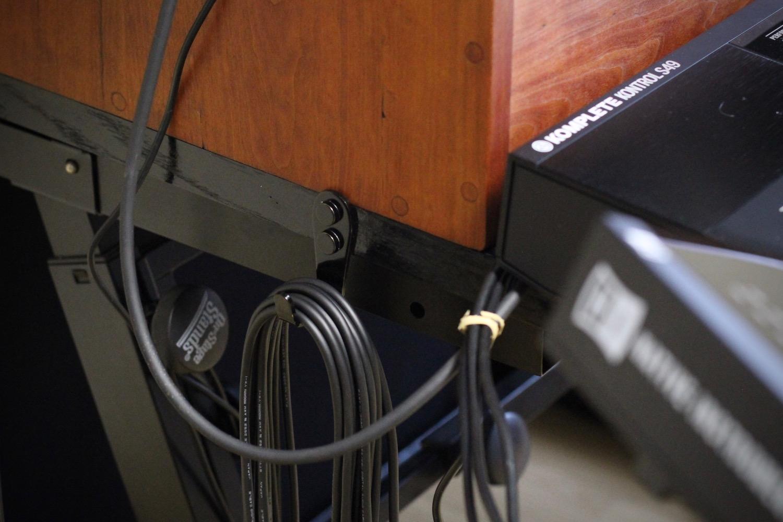 Patch cable hooks, left