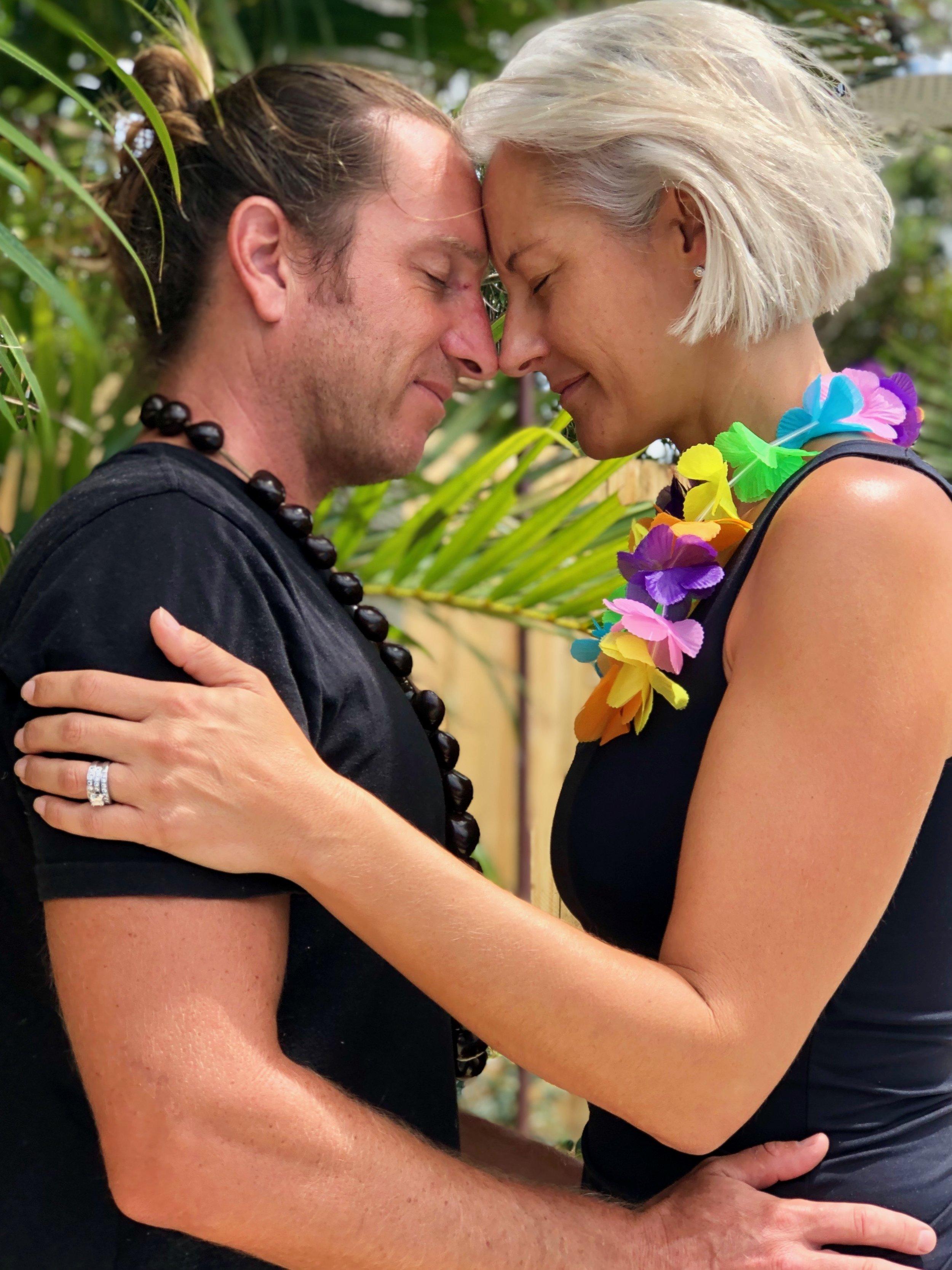 Aloha Aku No, Aloha Mai No  –  I give my love to you, you give your love to me.