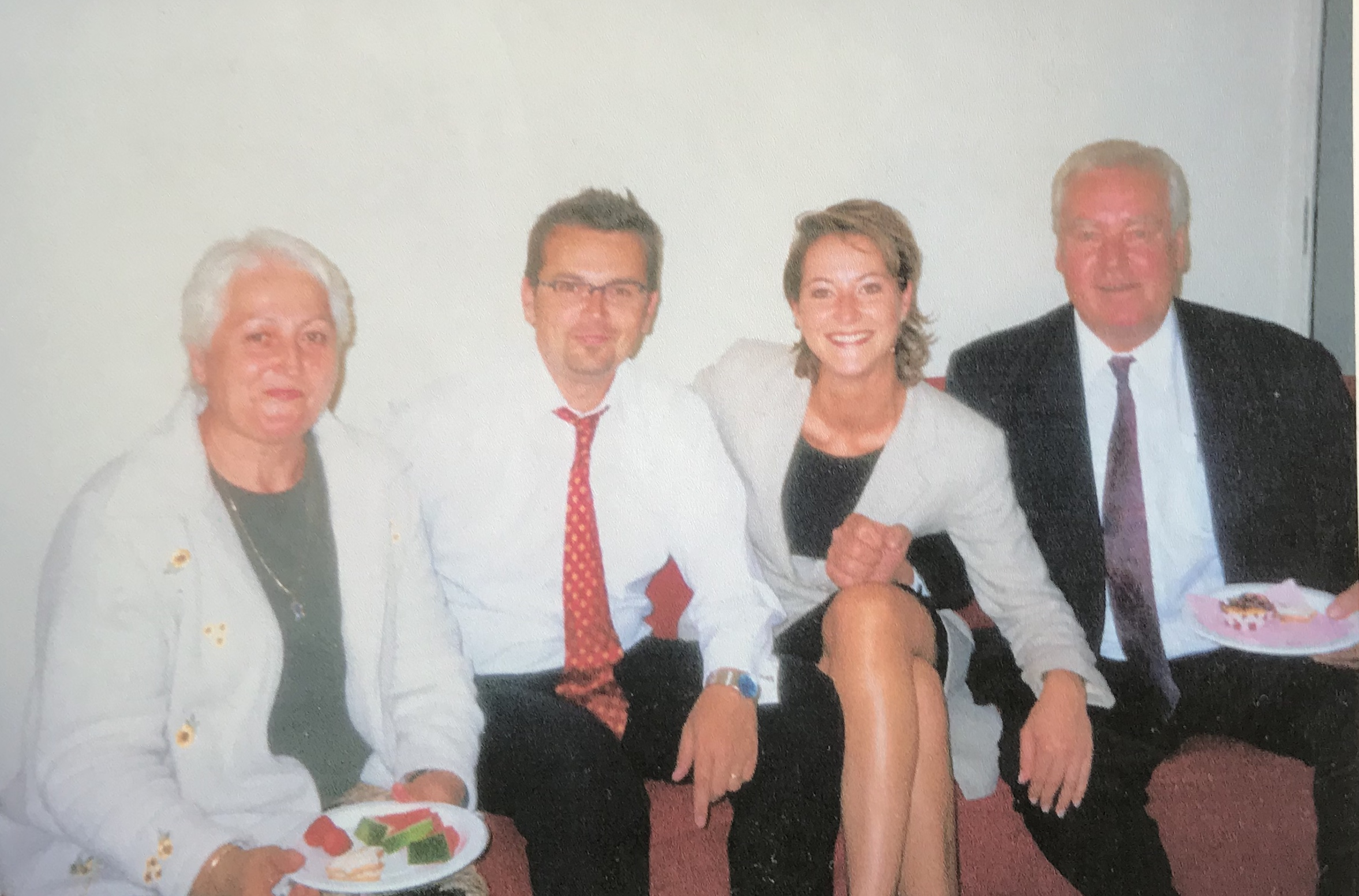 The first time (and last time) our family was re-united after my parents divorced in 1988. My mum Mira, my brother Daniel, me and my dad Zlatko in 2002.