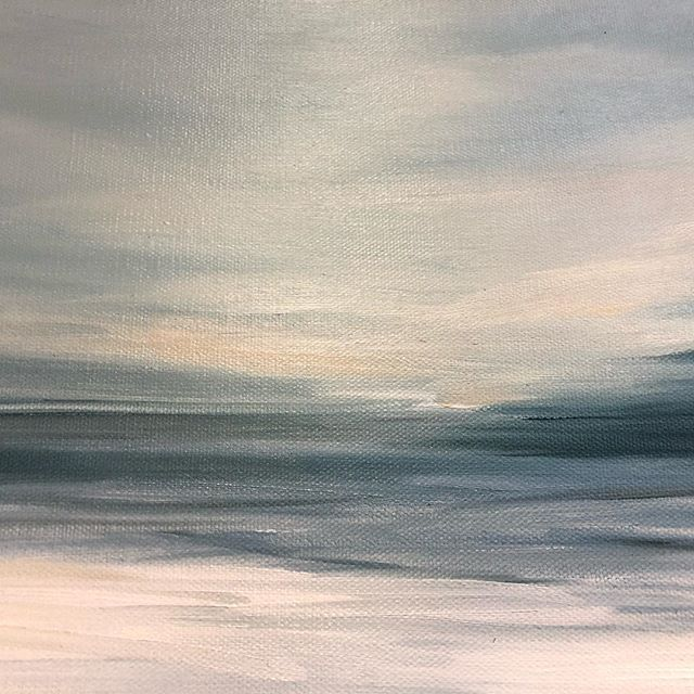 New works available at the beautiful @503found in Newport Beach #coastalart #minimalism #minimalisticseascape #oilpaintings #localart #shopsmall