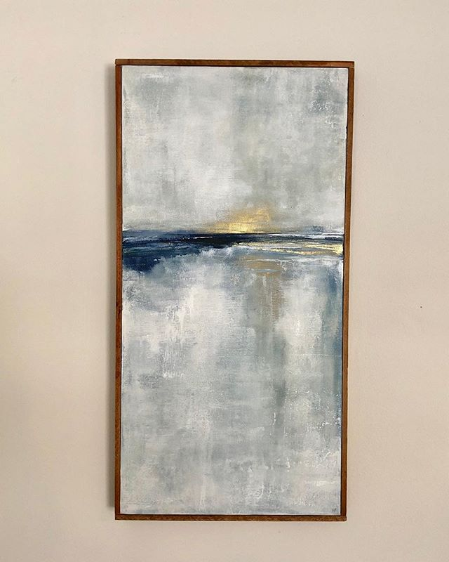 Another commission framed and ready to go. Thank you @vangalderdesign and @juliealevesque for supporting local artists! #coastalart #commisionedart #abstractpainting #acrylicpainting