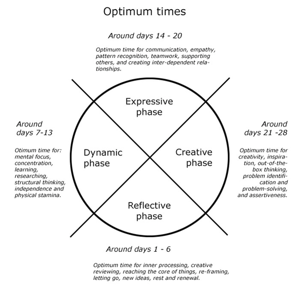 Diagram from 'The Optimized Woman' written by Miranda Gray.