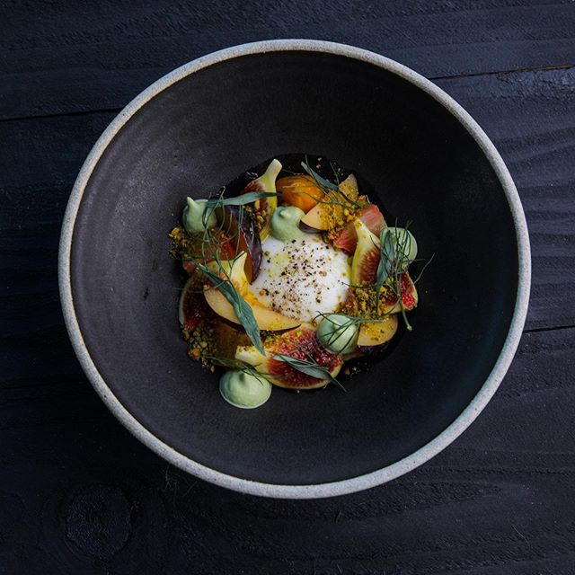 Burrata, figs and plums. Sooo good! Amazing shot from our collaboration with @71above and chef @thisisjavilopez last week. Perfect spot for some amazing menu items and a view from the 71st floor of the US Bank Tower.
