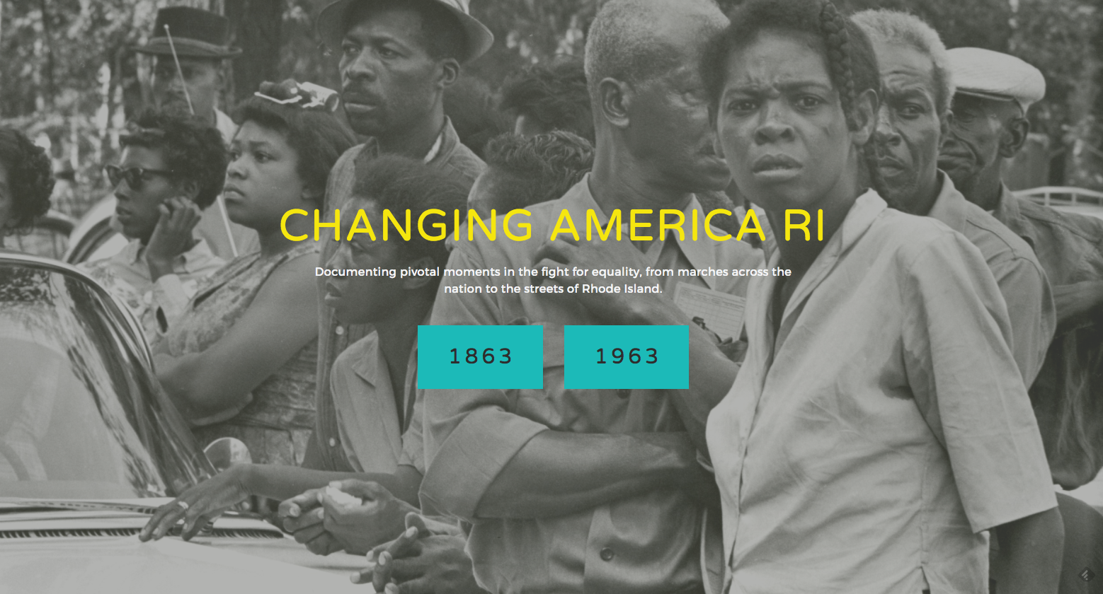 Website homepage. To explore, go to: http://www.changingamerica-cssj.org/