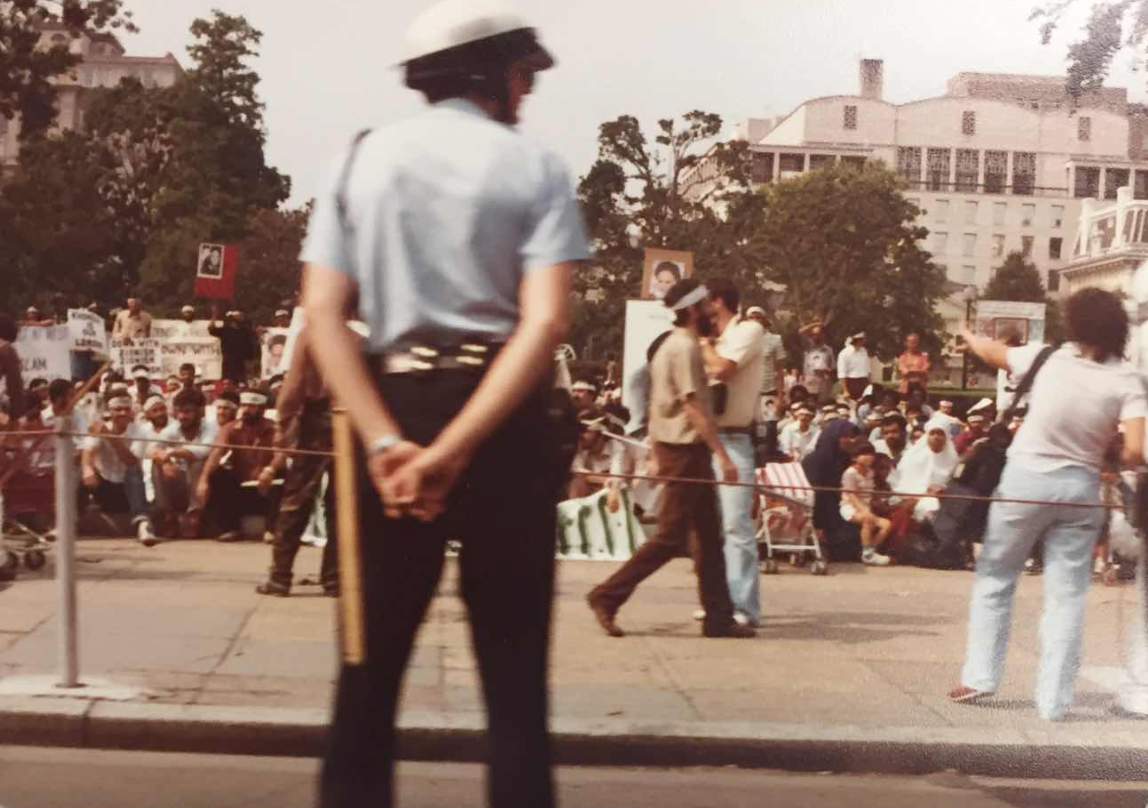 Pro-Khomeini Protest Photograph, July 1982, Iran Freedom Foundation Records, Box 17, Hoover Institution Archives.
