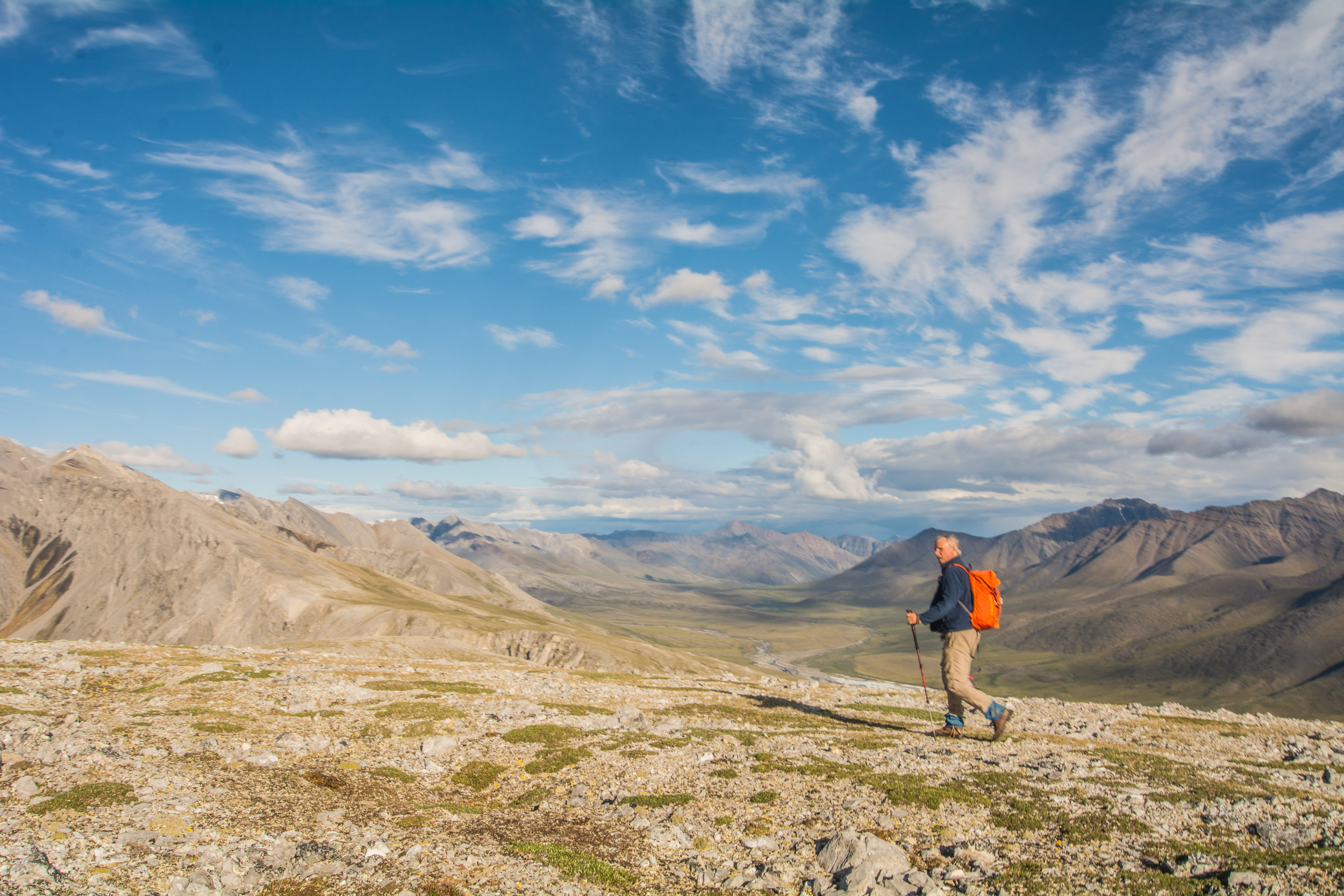 George backpacking in the Gates of the Arctic National Park & Preserve