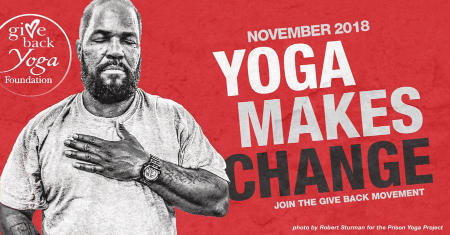 Yoga Makes Change campaign