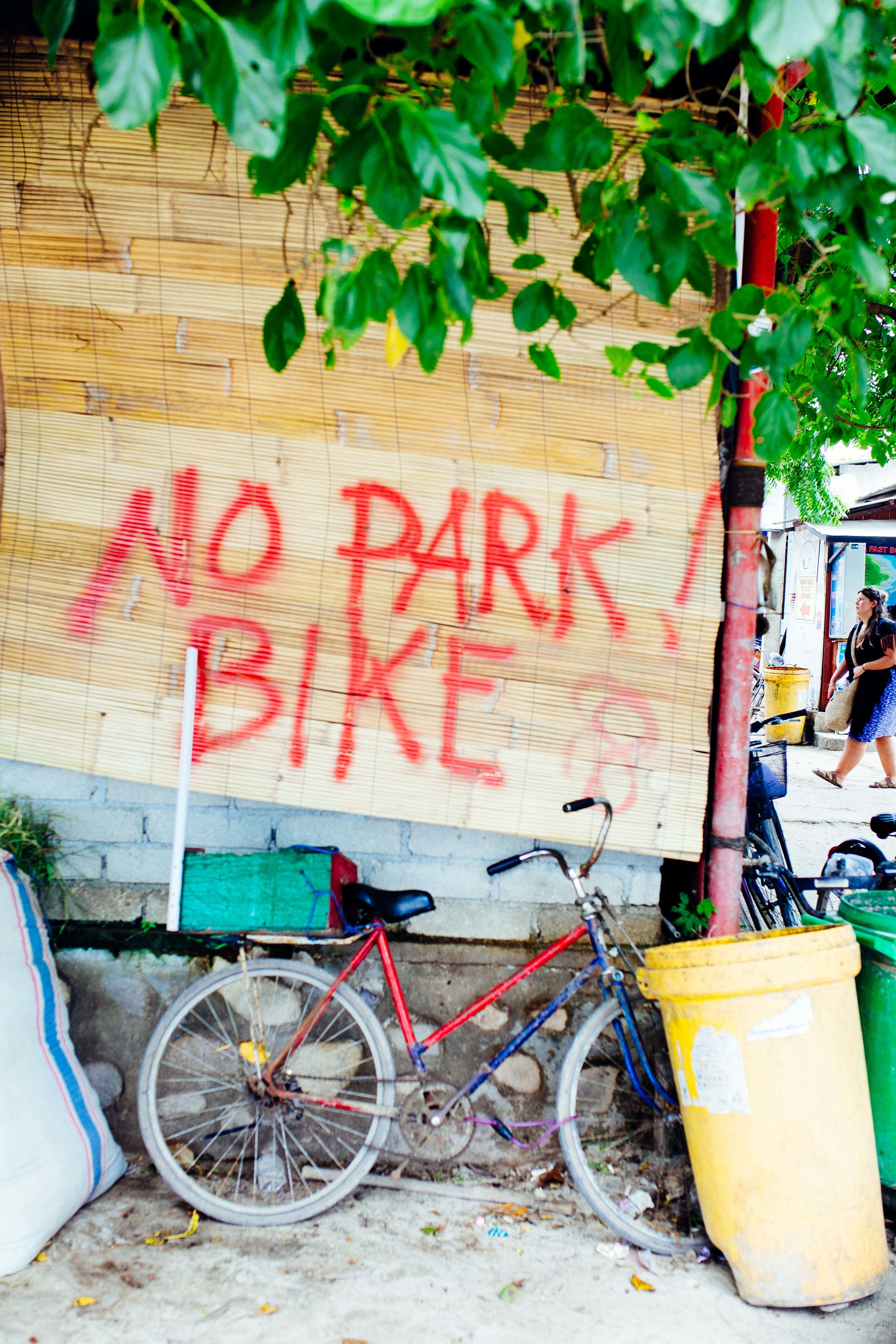no park bike travel photography