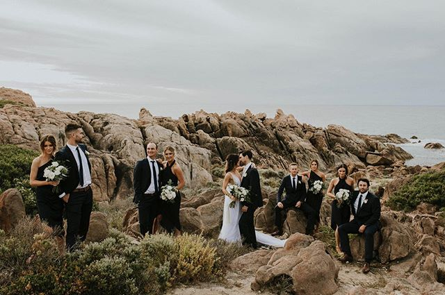 Bridal party sass, coming in hot and fast ⚡️🖤 #hotdamn #damnhot