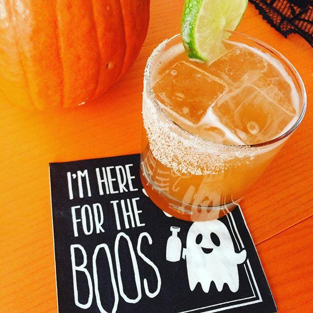 Halloween weekend drinks! #pumpkinspicedaiquiri
