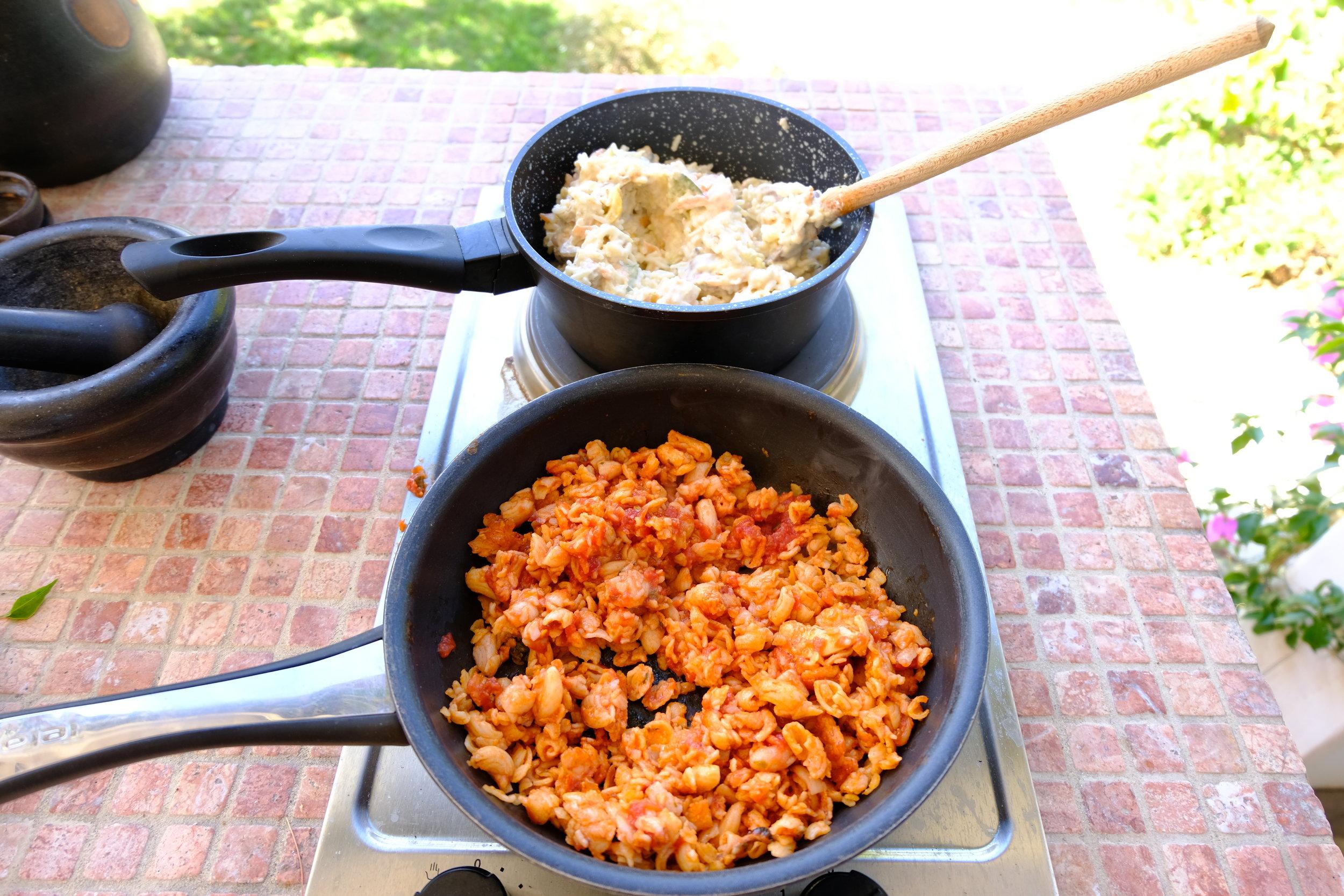 GF pasta and risotto