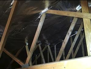 Radiant barrier blocks up to 97% of the radiant heat that enters the home's attic, thus reducing the heat in the attic as much as 28%. That is less heat to get from the attic into the home.