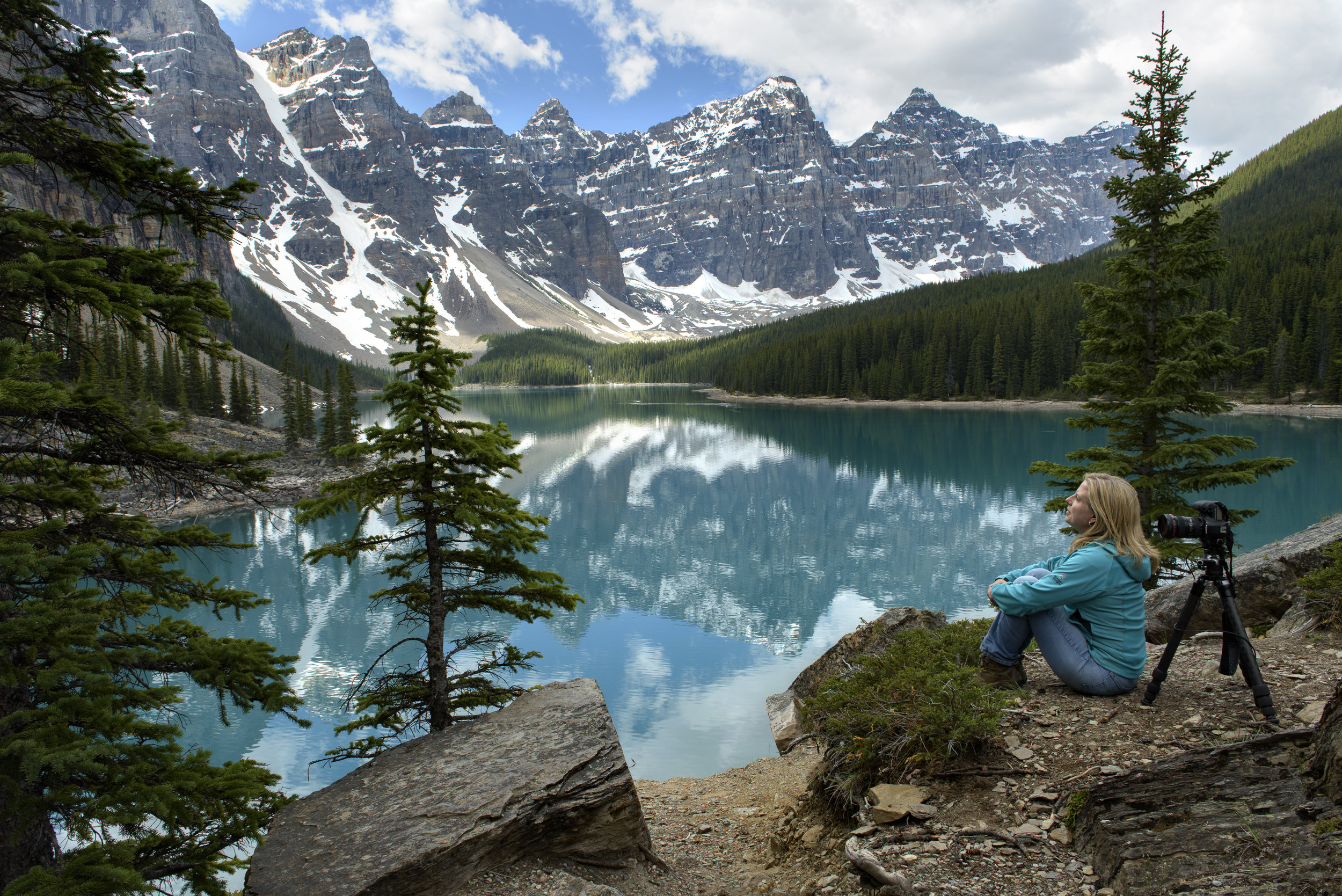 """Worship""  @ Moraine Lake, Alberta Canada.  Photo by Tiffany Briley."