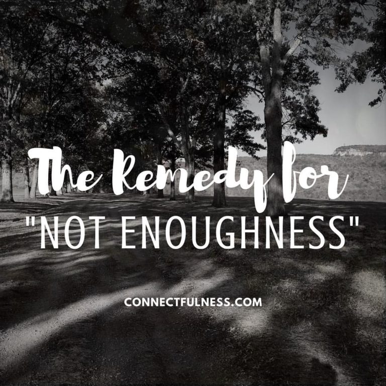 "The Remedy for ""Not Enoughness"" - photo credit Rebecca Wong"