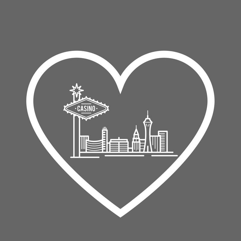Pray for Las Vegas heart and skyline design