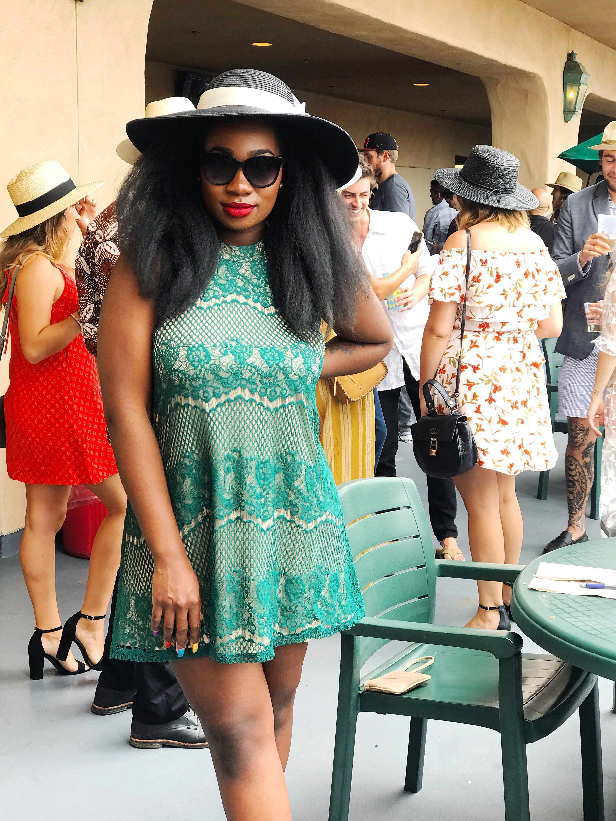 Image: Femi on Opening Day at Del Mar