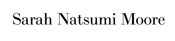 Sarah Natsumi Moore Logo