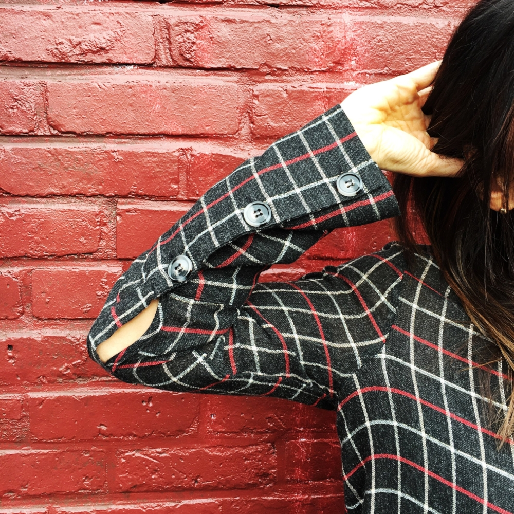 Add a little sparkle to your workwear with plaid and gold. I bought this cute shirt at ZARA. Details and link a below.