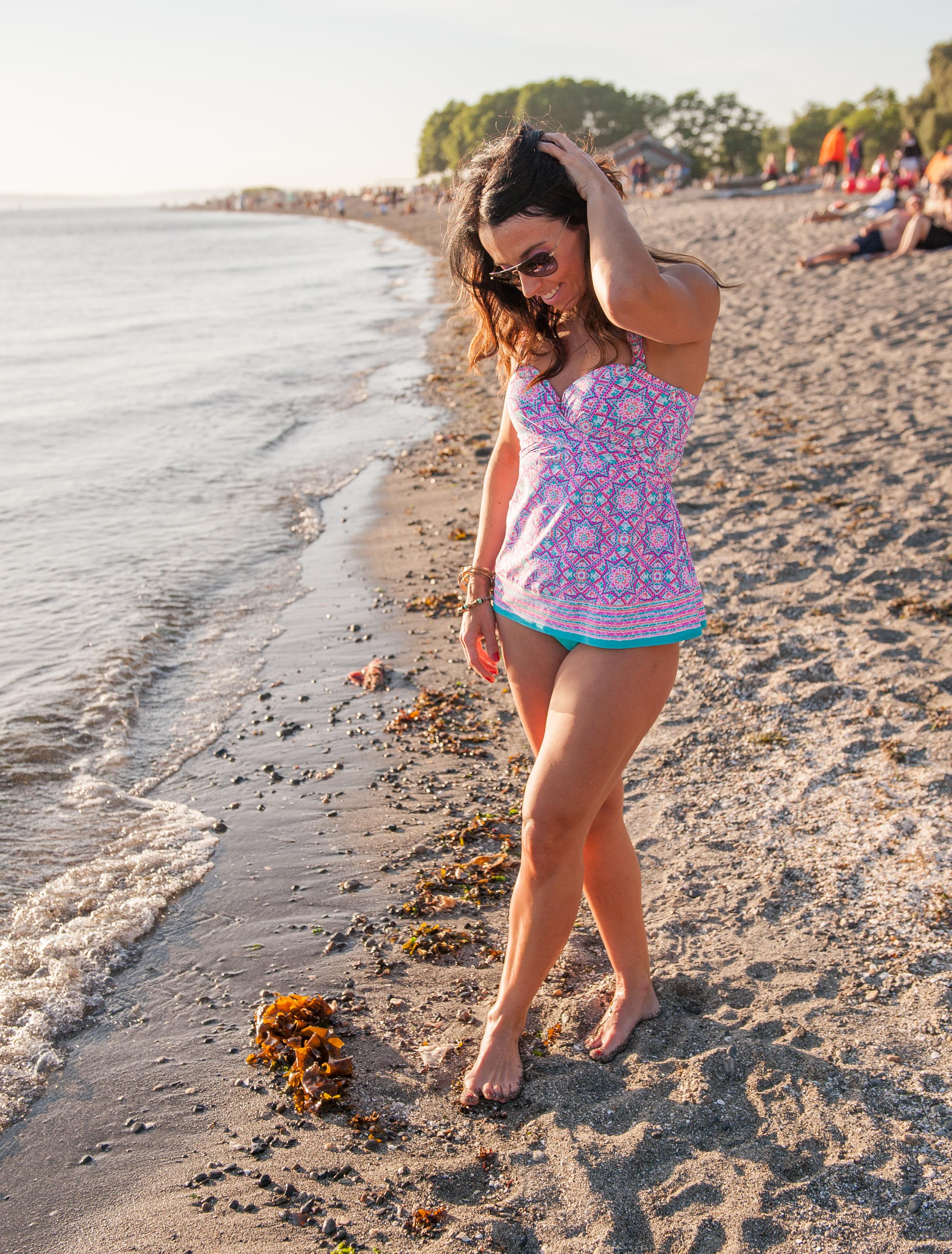 Five Way Bra Sized Bikini Tankini from Coco Reef Side Shirred Bikini Bottom in an Aqua Breeze from Coco Reef