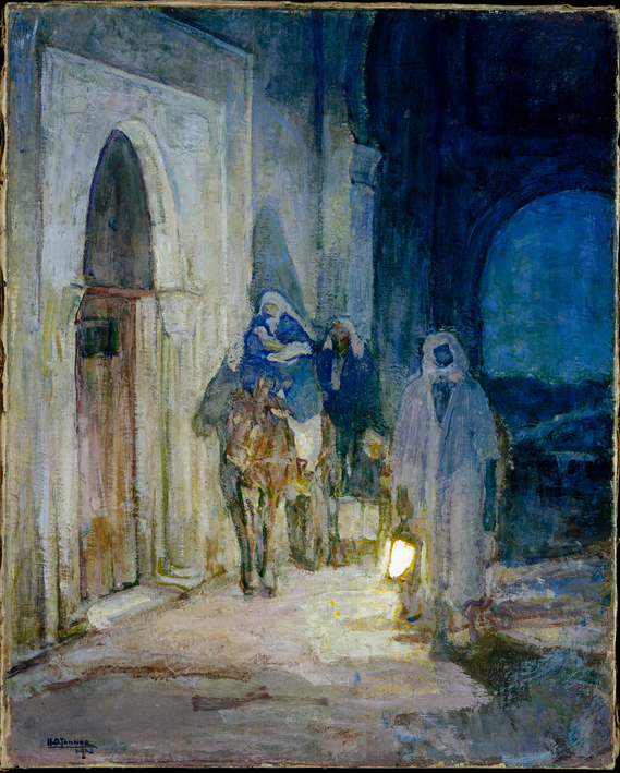 Henry Ossawa Tanner (1859-1937)  Flight Into Egypt , 1923 oil on canvas 29 x 26 in. (73.7 x 66 cm) Marguerite and Frank A. Cosgrove Jr. Fund, 2001 Accession Number: 2001.402a The Metropolitan Museum of Art, New York