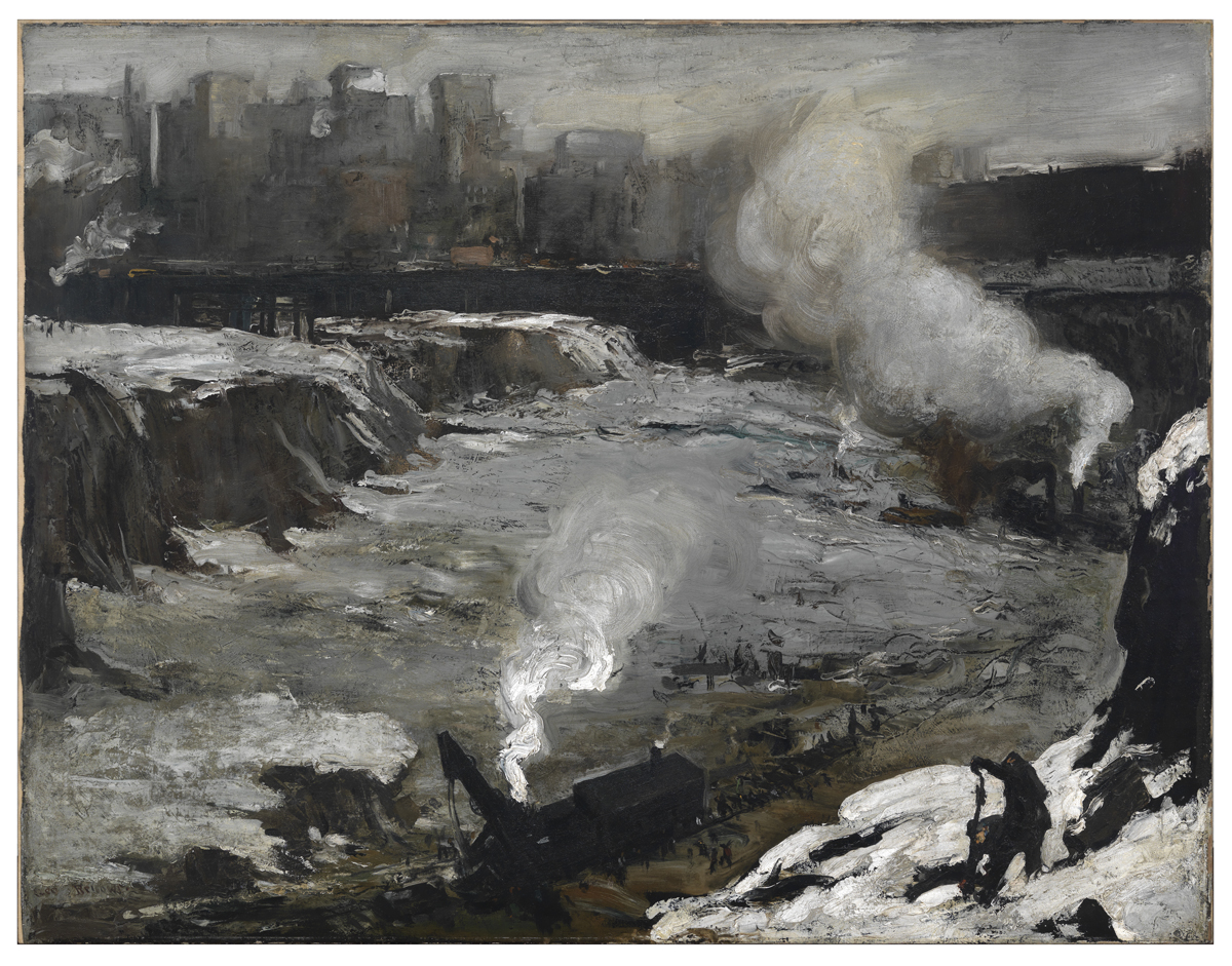 George Wesley Bellows,   Pennsylvania Excavation  , oil on canvas, 1907,  Smith College Museum of Art