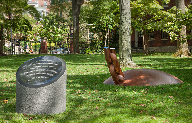 Brown University Slavery Memorial , Photo via Brown Univeristy by Warren Jagger