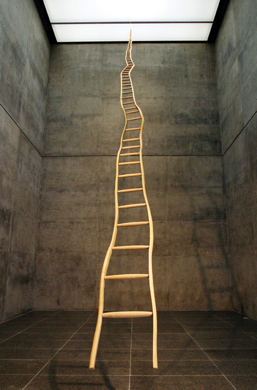 Ladder for Booker T. Washington,  wood (ash and maple), 1996,  The Modern Art Museum of Fort Worth