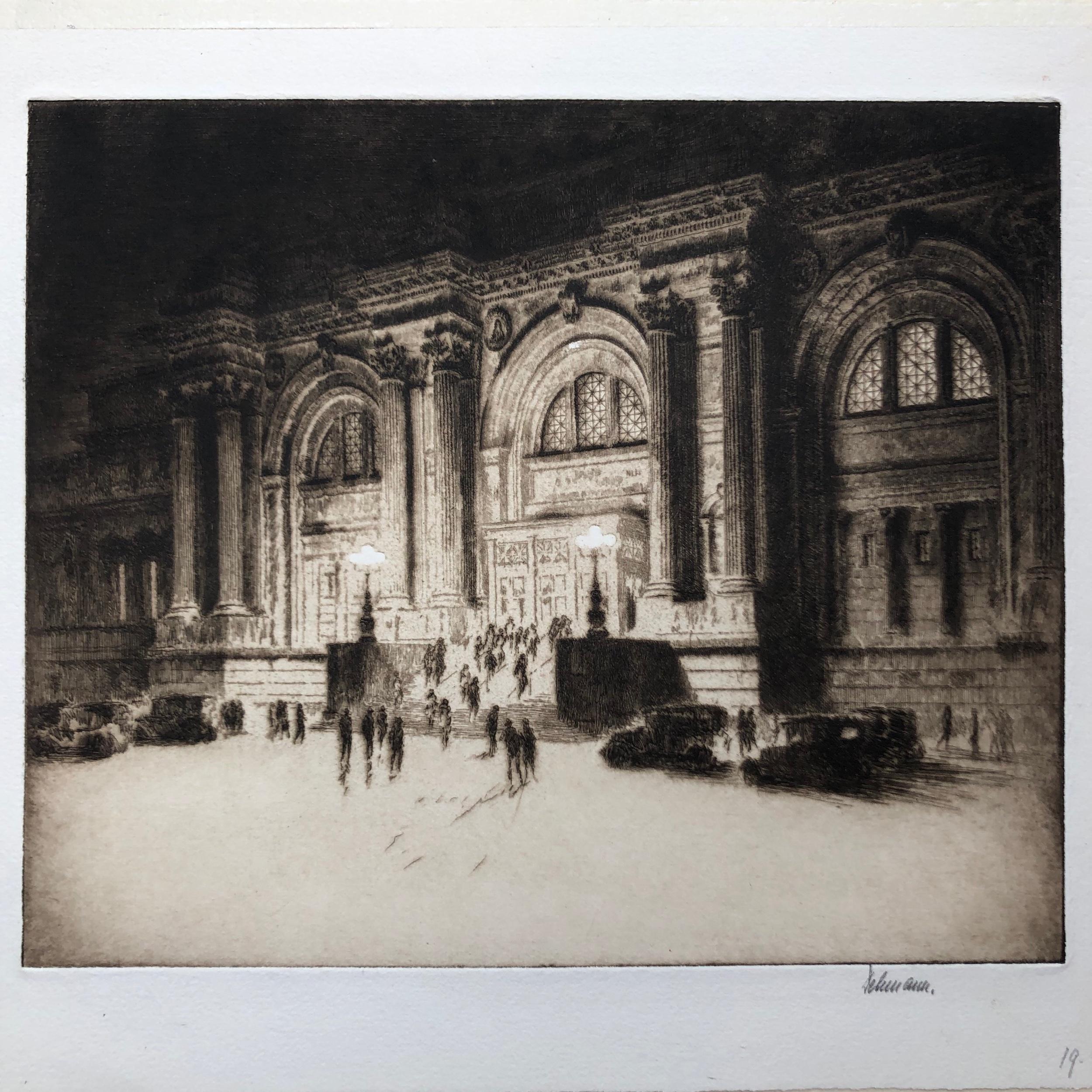 Karl Dehmann,  Metropolitan Museum , etching, 1928