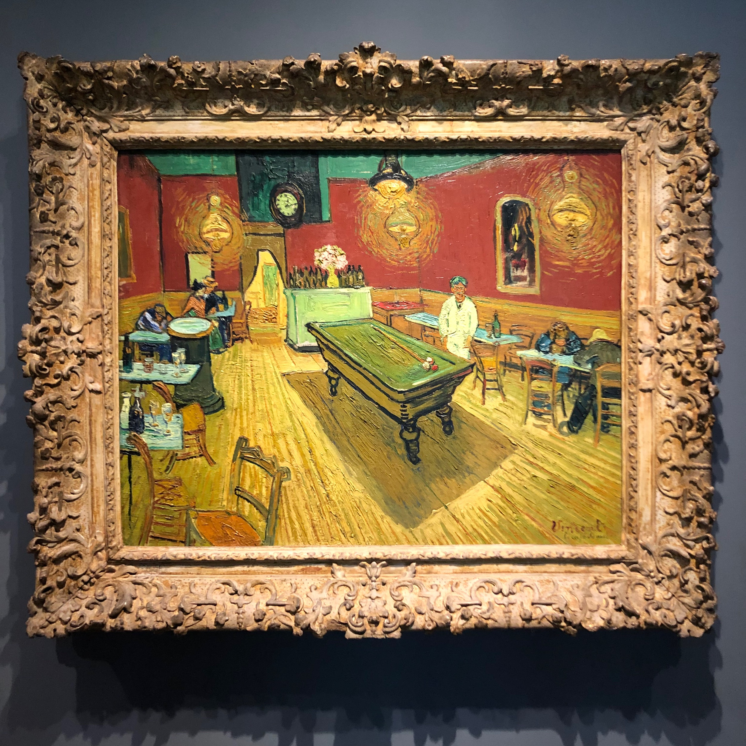 Vincent van Gogh's  The Night Café , in the Collection of the Yale University Art Gallery.