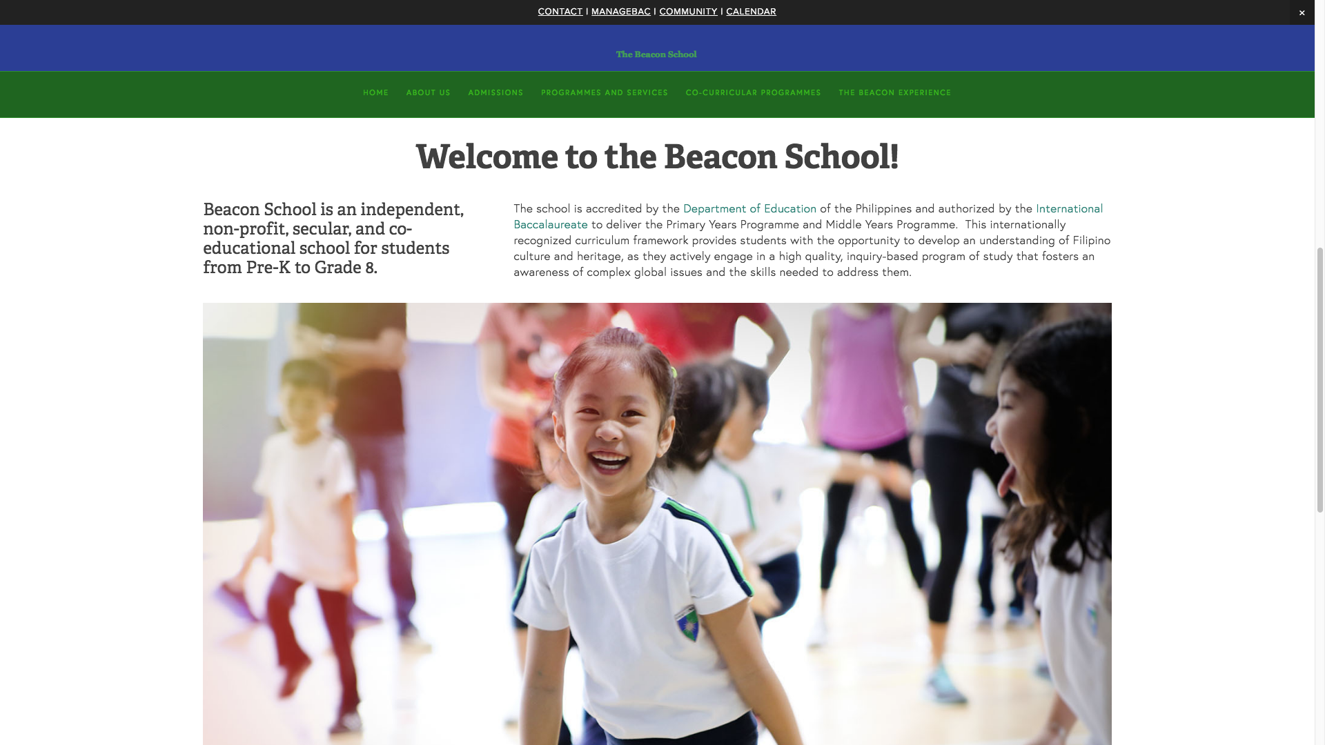Independent non-profit, secular and co-educational school from Pre-K to Grade 8.  Visit  www.beaconschool.ph