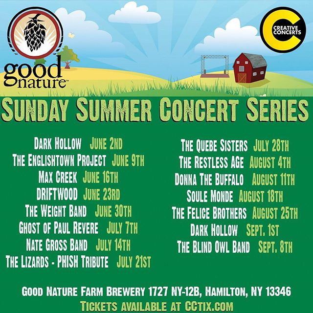 Summertime summertime🌱🌞🌻 See you at @goodnaturebrewing in Hamilton, NY on June 23! Annnnnddddddd... CLEVELAND we're coming for you too baby! 5/22 @beachlandcle  Tickets on sale Friday at 10a!  #sundaysummerconcertseries #clevelandmusic #beachlandballroom #driftwoodtheband #goodnaturebrewing #upstatenymusic #summertime