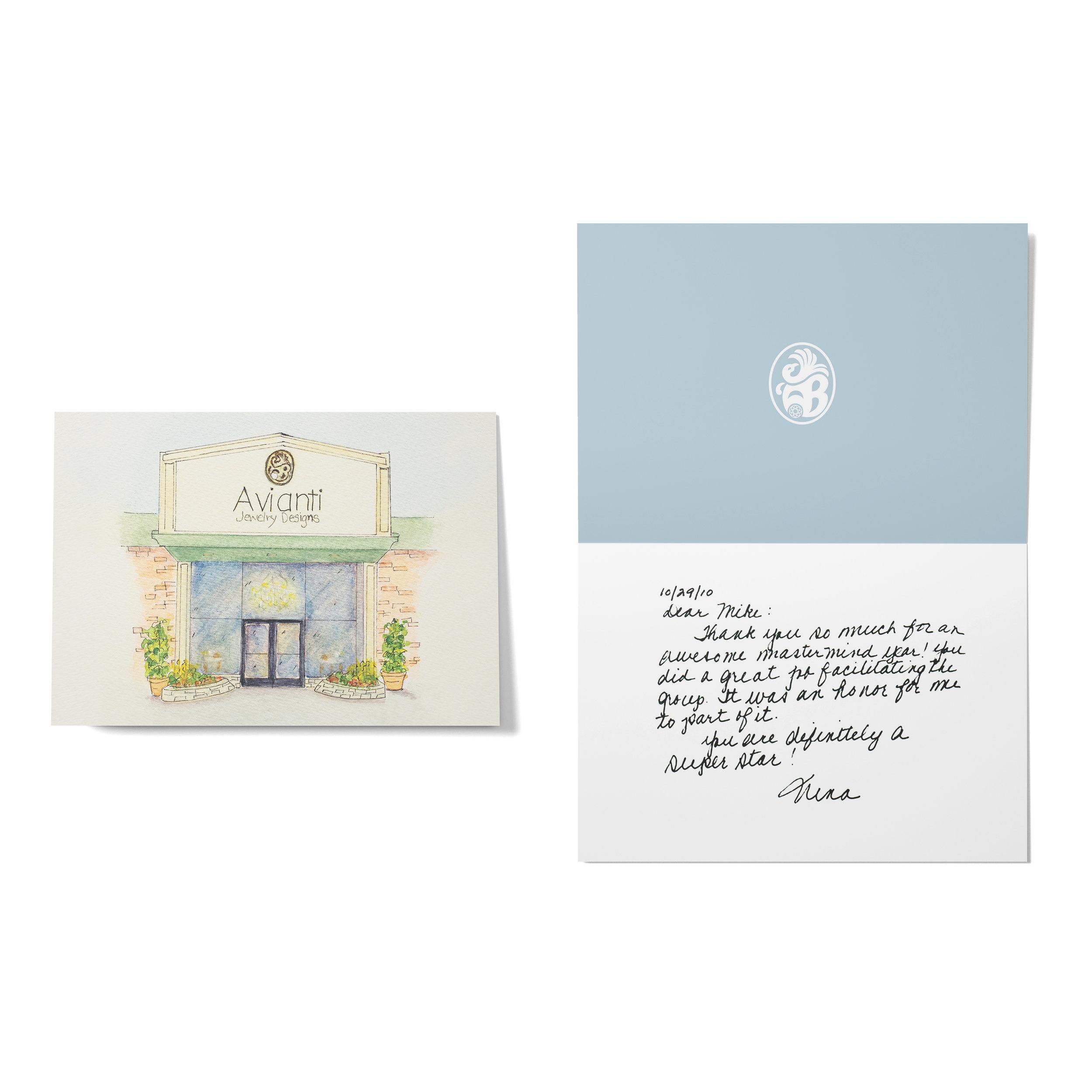 Avianti Jewelry Thank You Card
