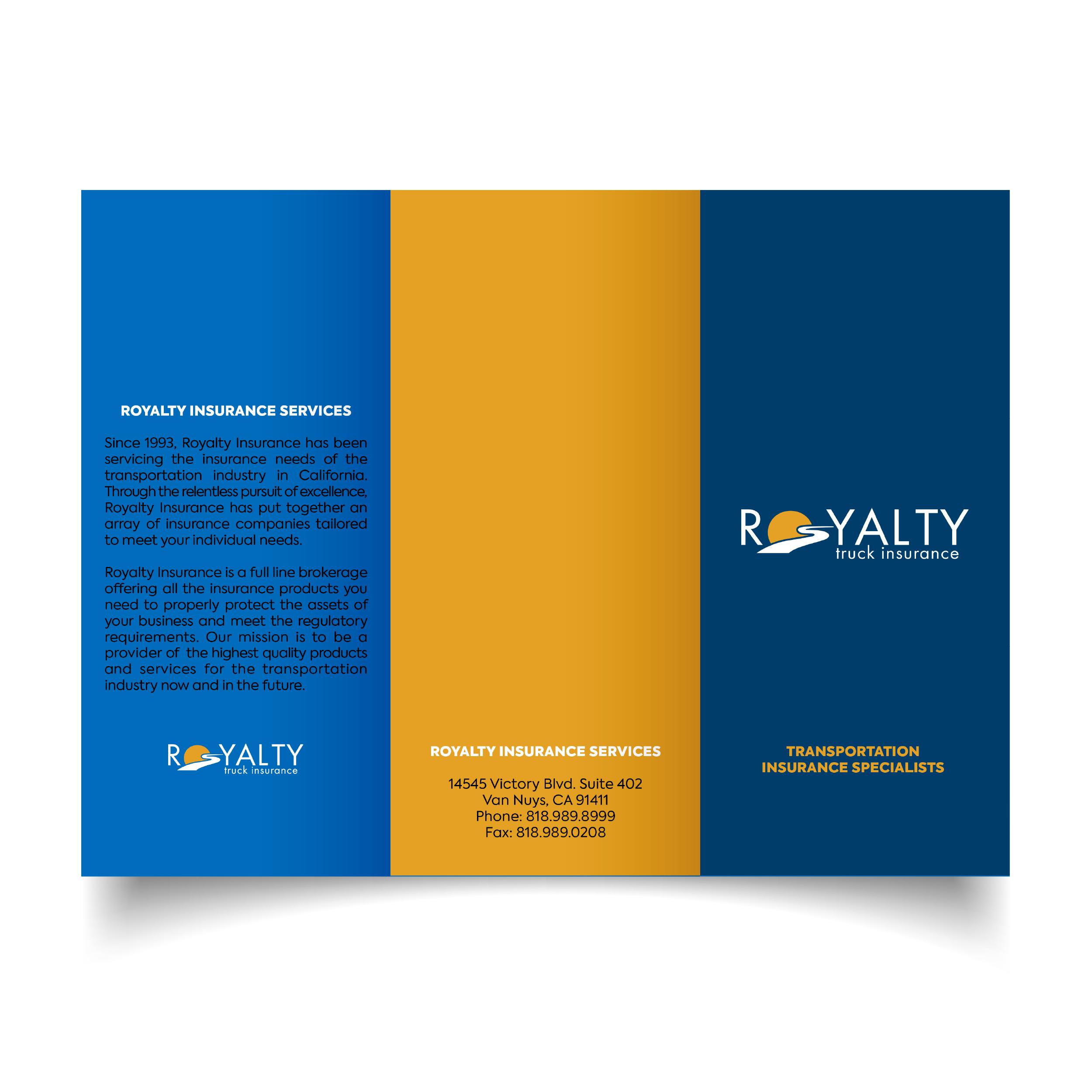 Royalty Insurance Pamphlet (Outside)