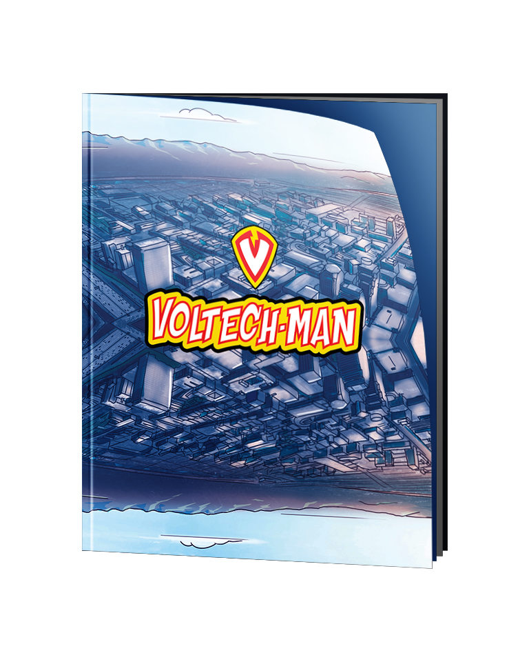 Voltech-Man Comic Book - Story & Illustration by Grant Pogosyan