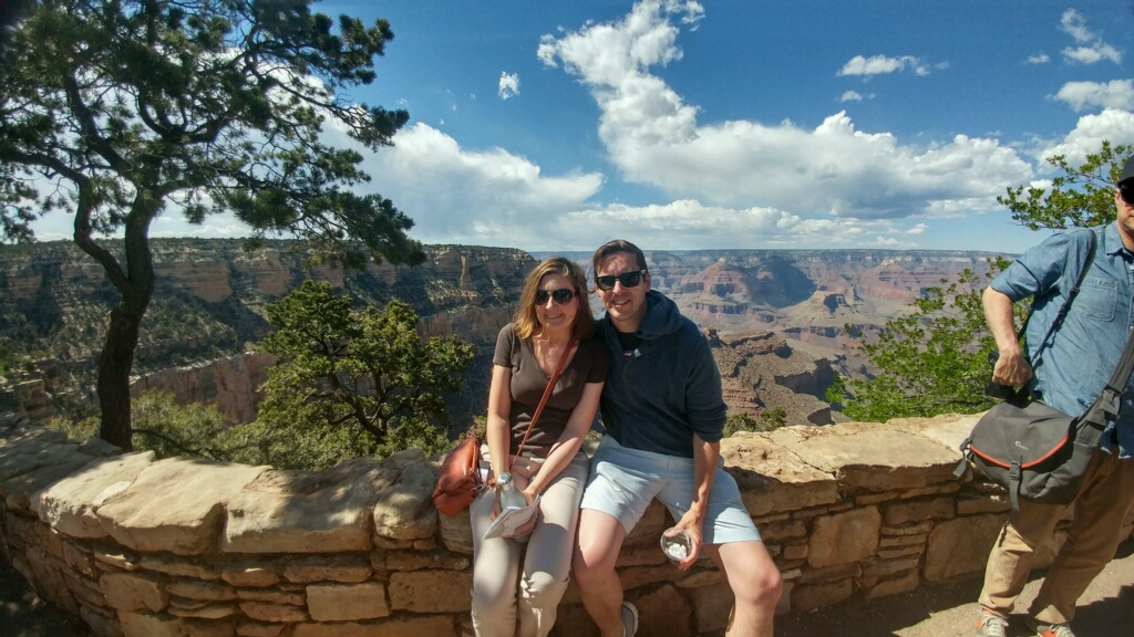 "My brother and me at the Grand Canyon (another part of the ""family-moon"")"