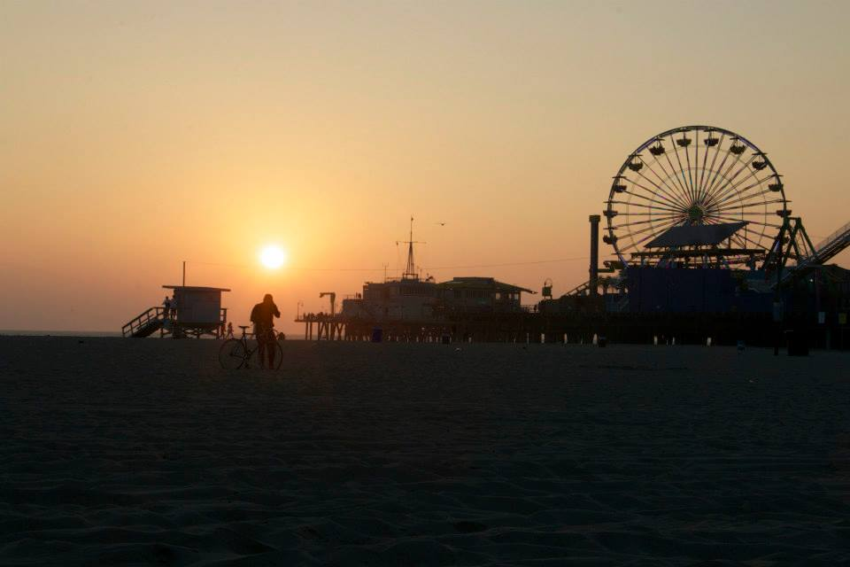 The Santa Monica Pier (photo by  Steven Seighman )