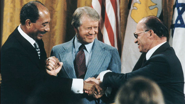 Peace between Anwar Sadat and Menachem Begin