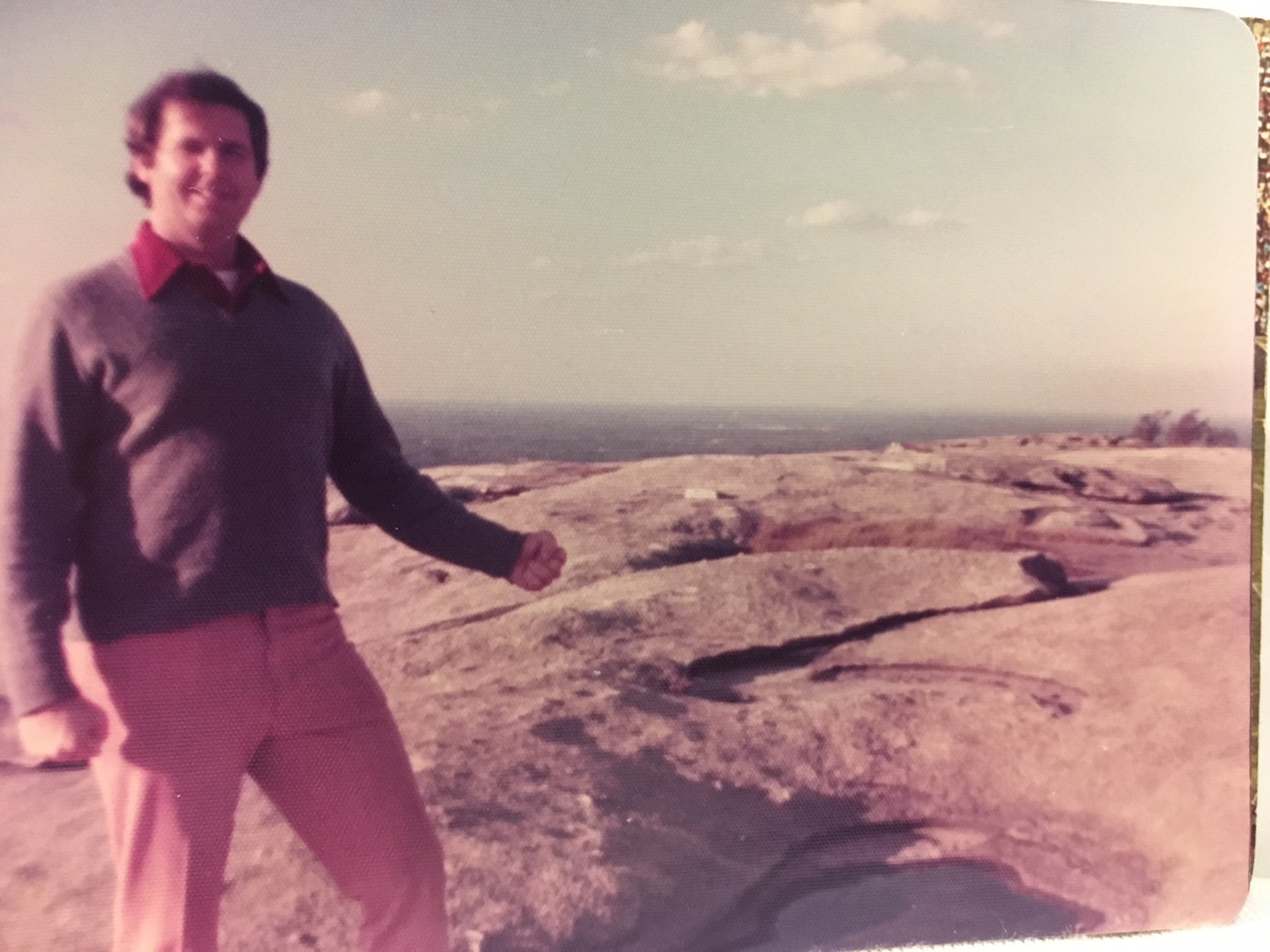 Dad on Stone Mountain (photo courtesy Joan Wilson)