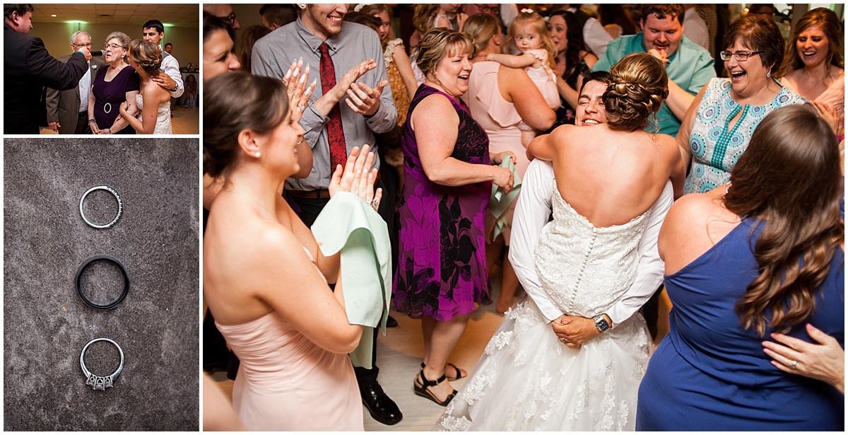 wedding reception fun at the atrium in butler pa