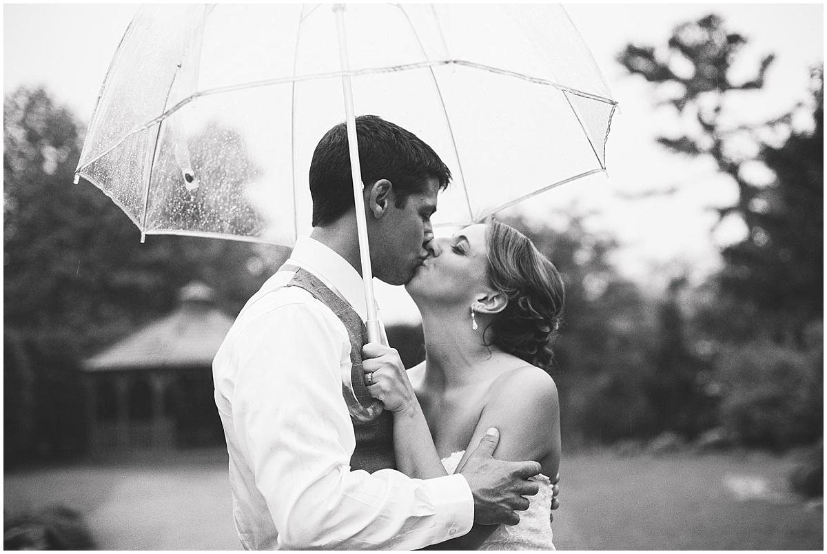 rainy bride and groom portrait pittsburgh pa